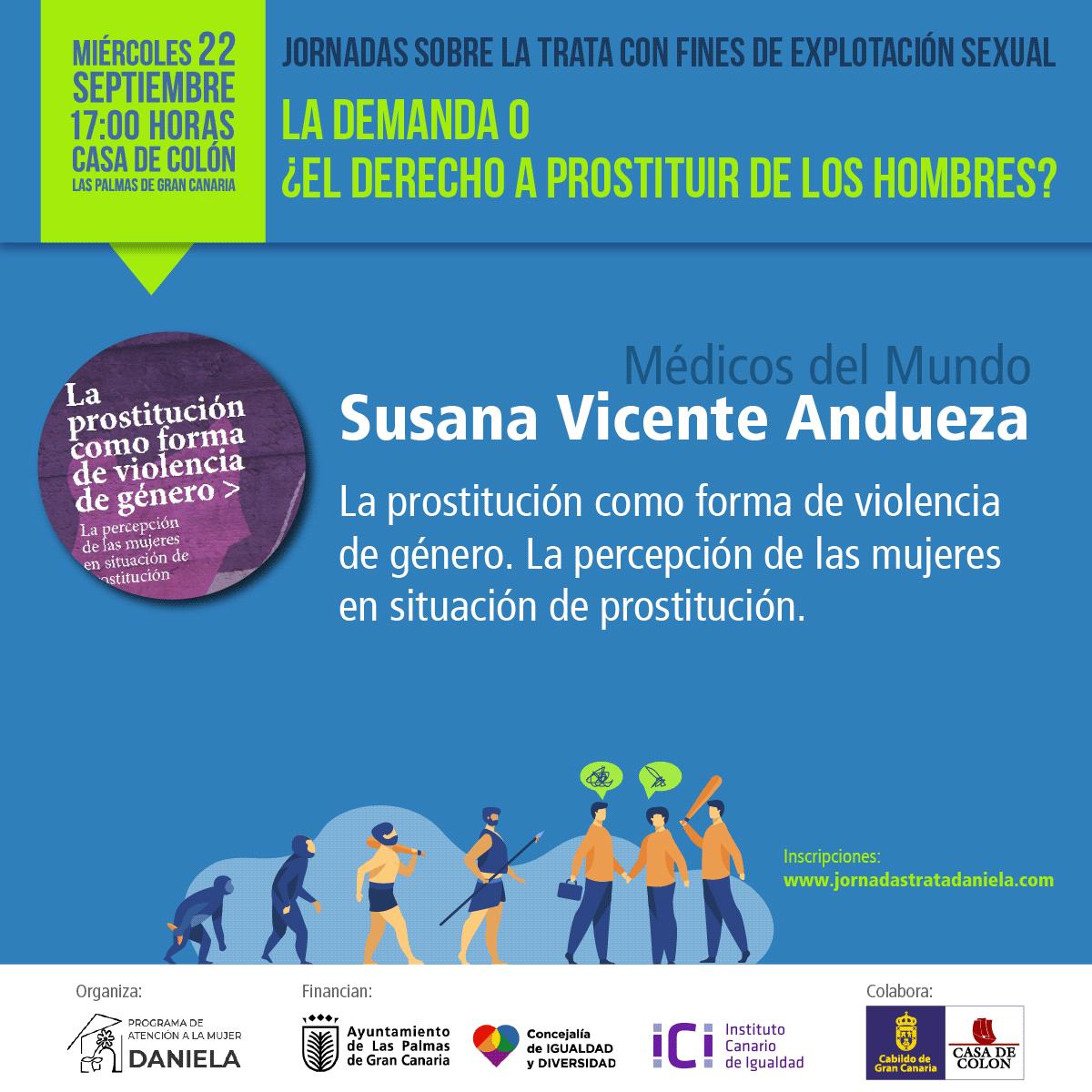 Cartela de la charla de Susana Vicente Andueza